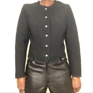 VINTAGE | Geiger Black Boiled Wool Jacket